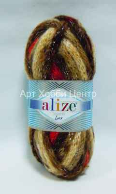 Пряжа Alize Country Lux 52% акр. 25% полиам. 20% ш. 3% металл 100г 32м 5470