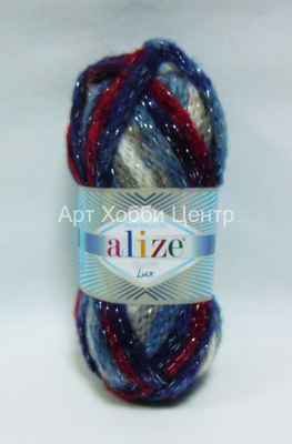 Пряжа Alize Country Lux 52% акр. 25% полиам. 20% ш. 3% металл 100г 32м 5491
