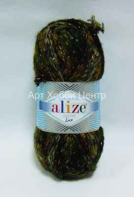 Пряжа Alize Country Lux 52% акр. 25% полиам. 20% ш. 3% металл 100г 32м 5566